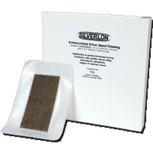 "Silverlon Antimicrobial Film Top Island Wound Dressing 6"" x 6"""