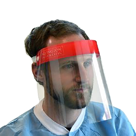 Arlington Scientific Wraparound Face Shield Full Length Anti-fog Disposable NonSterile