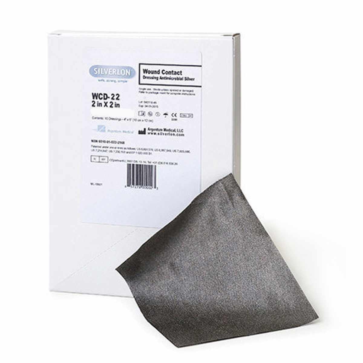 "Argentum Medical Silverlon Wound Contact Dressing 2"" x 2"""
