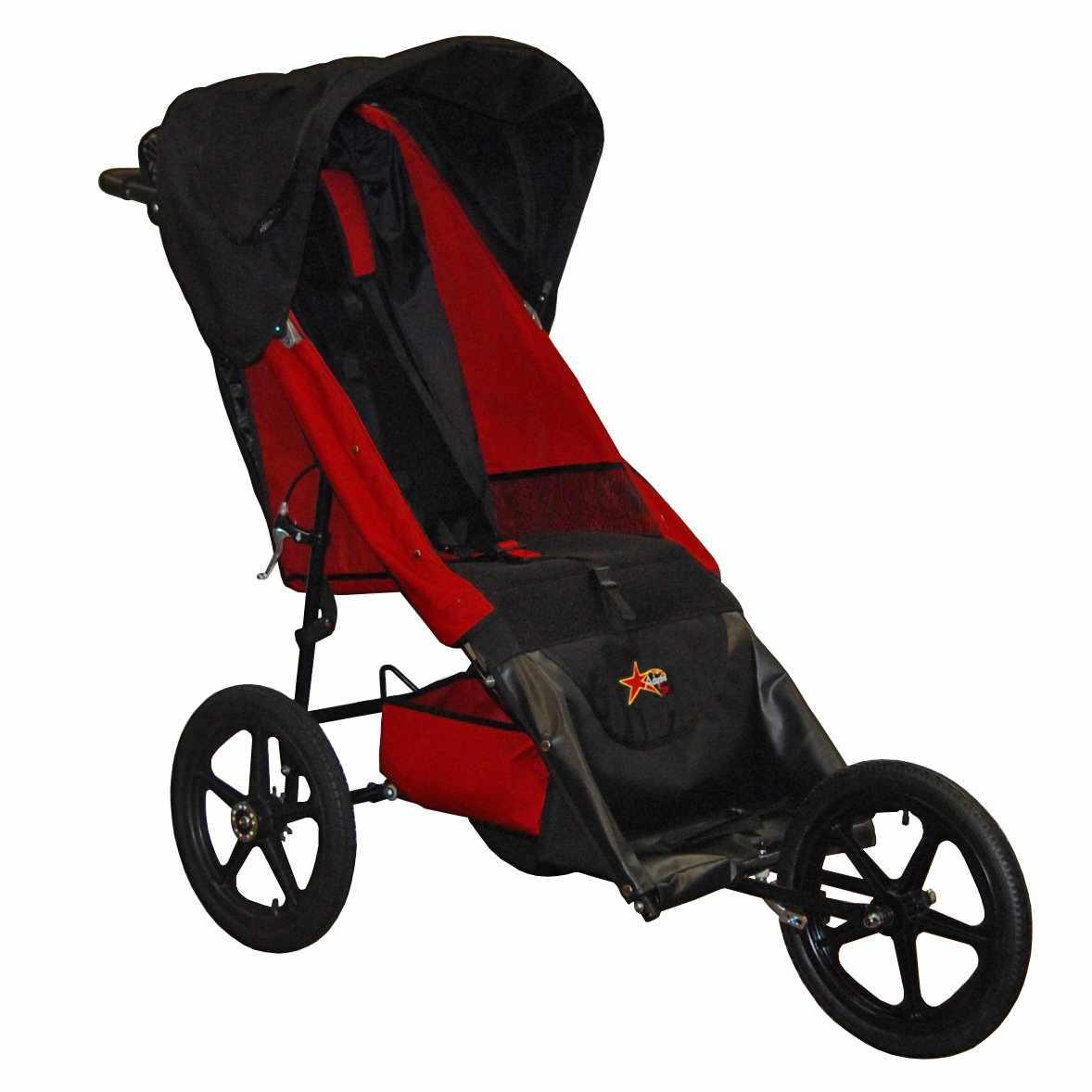 Adaptive star stroller - Red
