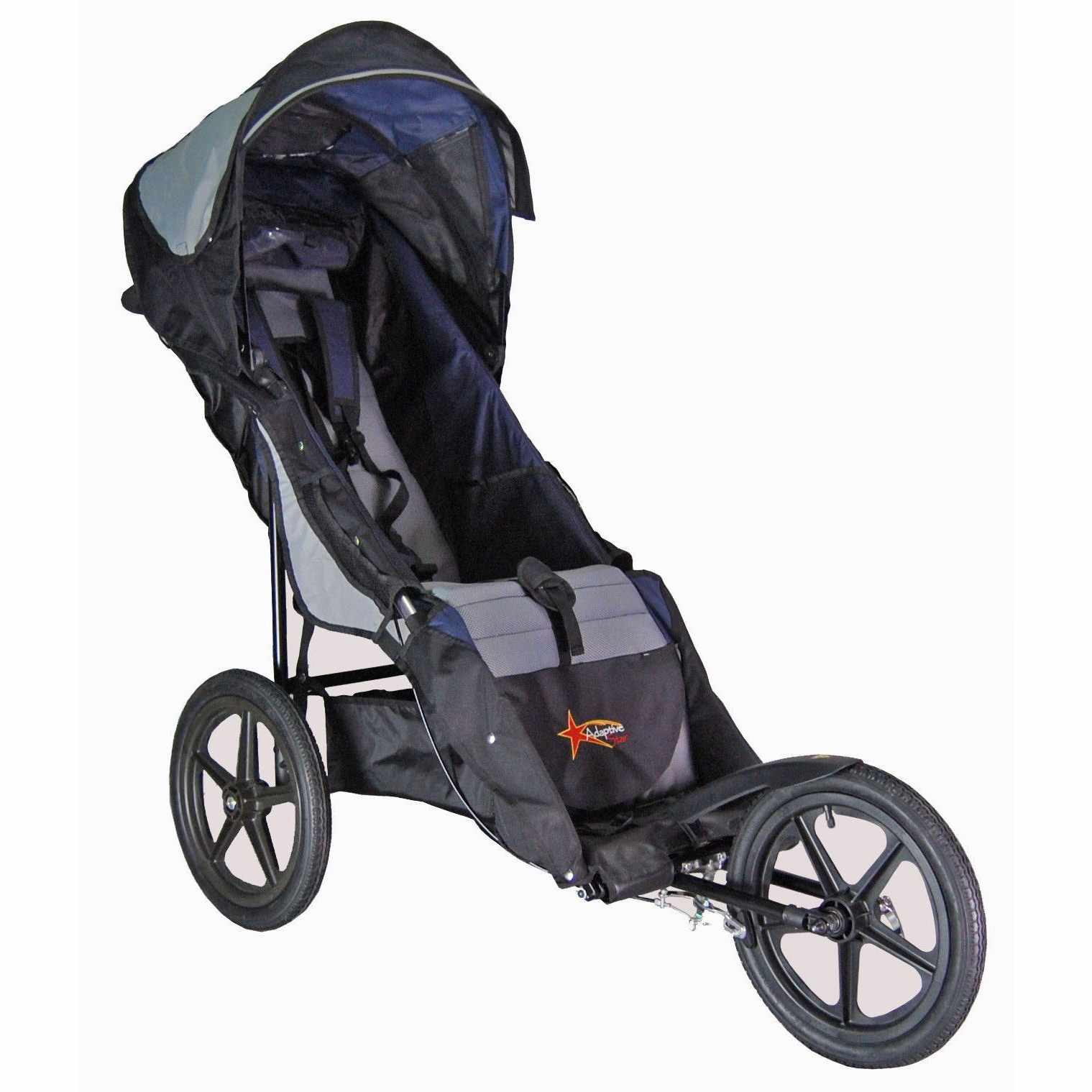 Adaptive star stroller - Folded