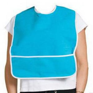 A-T Surgical Adult Terry Bib Crumb Catcher Plastic Back