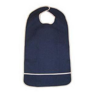 A-T Surgical Adult Terry Bib Crumb Catcher, Plastic Back