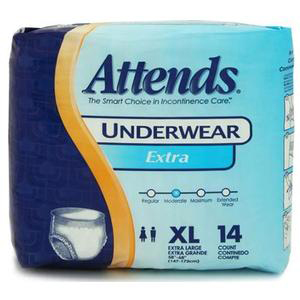 """Attends Extra Absorbency Protective Underwear, XL, 58"""" to 68"""""""