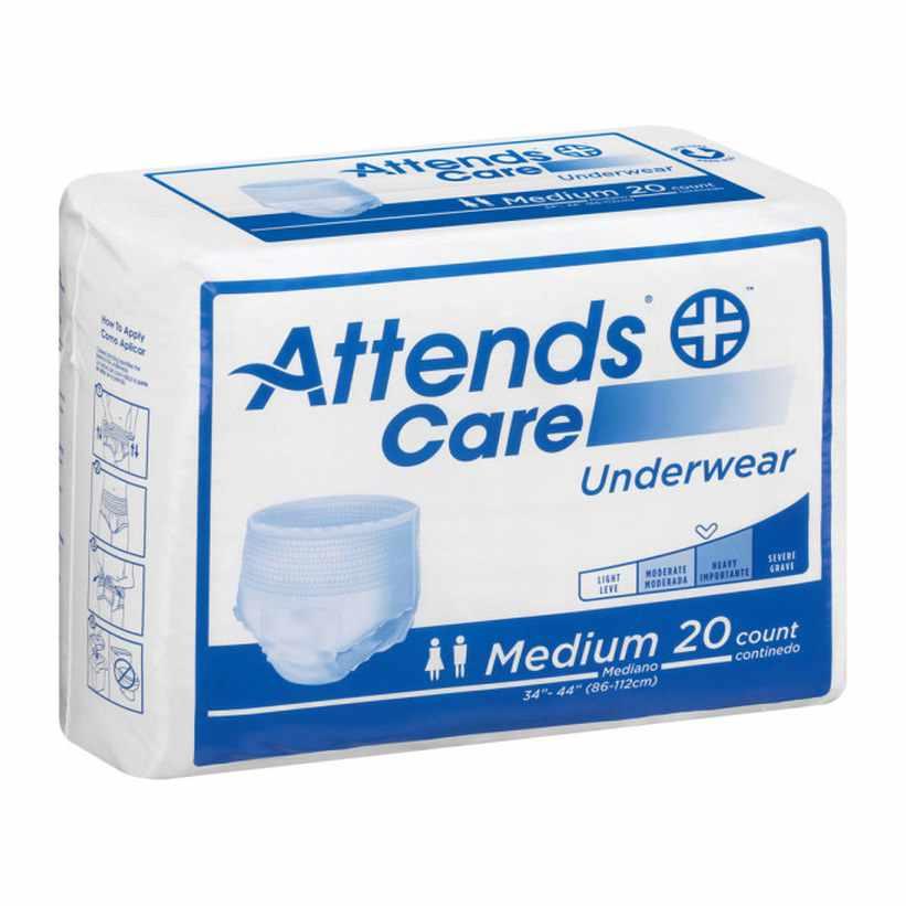 "Attends Regular Absorbency Protective Underwear, Medium, 34"" to 44"""