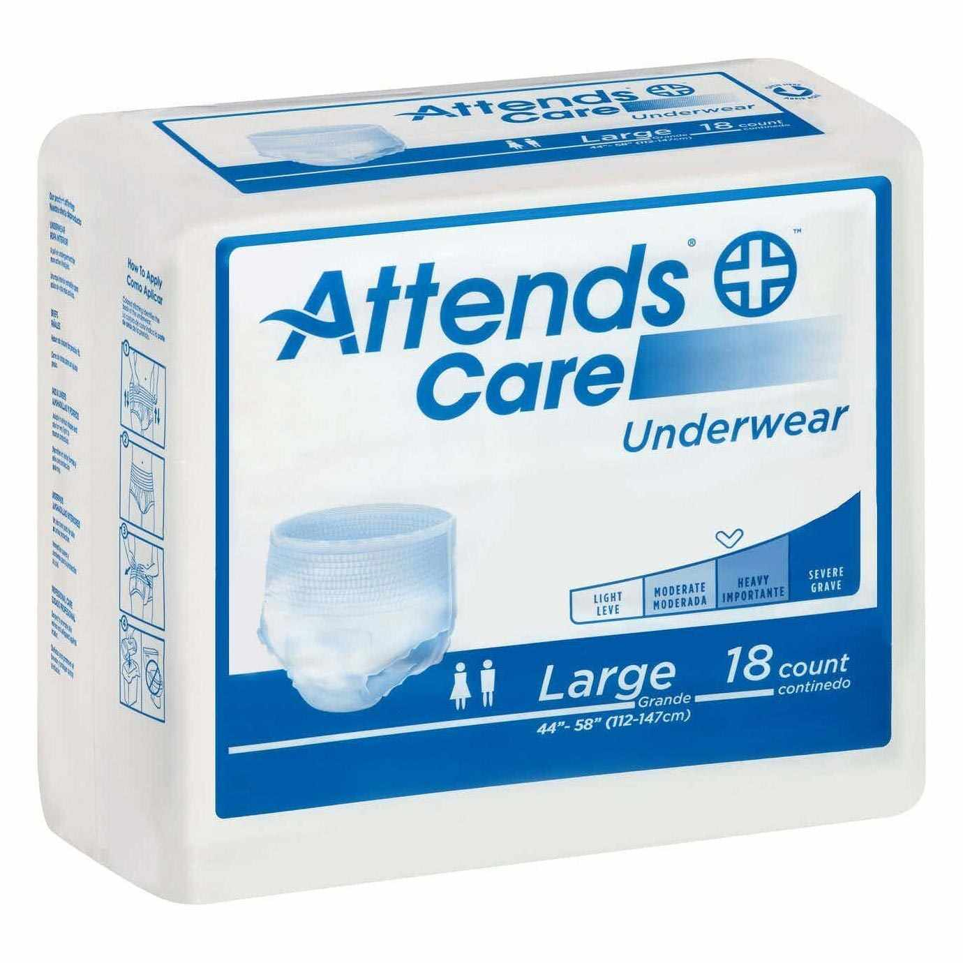 """Attends Regular Absorbency Protective Underwear, Large, 44"""" to 58"""""""