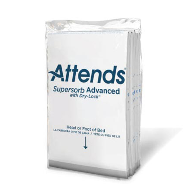 """Attends Supersorb Breathables Underpad, Ultra-Max Absorbency, Embossed Pattern, 36"""" X 30"""""""