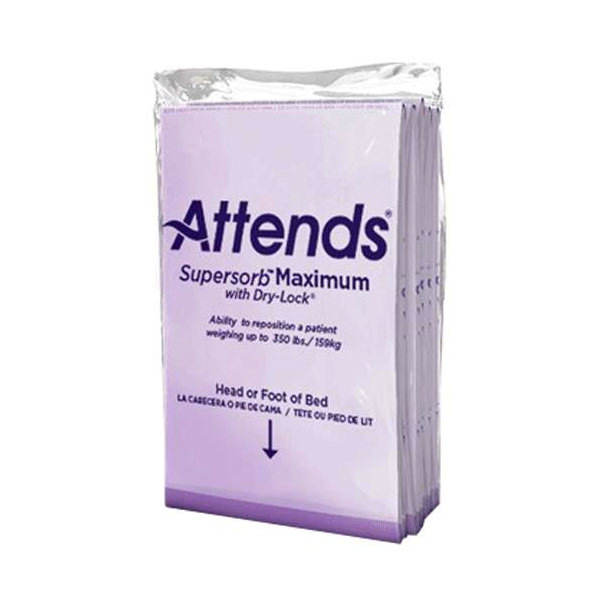 "Attends Supersorb Breathables Underpad, Maximum Strength, Purple, 36"" X 30"""