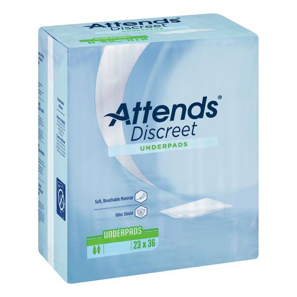"""Attends Disposable Underpad, Moderate Absorbency, Green, Latex-free, 23"""" x 36"""""""