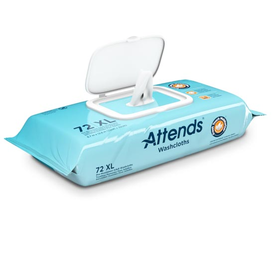 """Attends Washcloths, 8.7"""" x 12.5"""", Scented"""