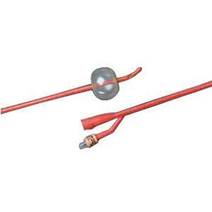 Bardex Lubricath Tiemann 2-Way Foley Catheter, Hydrogel Coated 12Fr 5cc Balloon Capacity - Each
