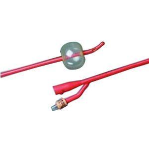 Bardex I.C. Tiemann 2-Way Foley Catheter, Silver Hydrogel Coated, 16Fr 30cc Balloon
