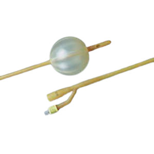 Bardex Lubricath Ovoid Fluted 2-Way Foley Catheter, Hydrogel Coated, 24Fr, 75cc Balloon