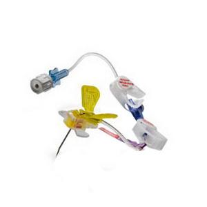 """HuberPlus Safety Infusion Set with Y-Site and Needleless Injection Cap 20 Gauge x 1"""""""
