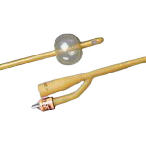 Bard Silicone-Elastomer Coated 2-Way Foley Catheter, Hydrophobic, 16Fr 5cc Balloon Capacity