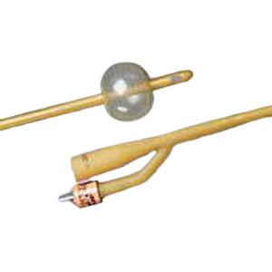 Bard Silicone-Elastomer Coated 2-Way Foley Catheter, Hydrophobic, 28Fr 5cc Balloon Capacity