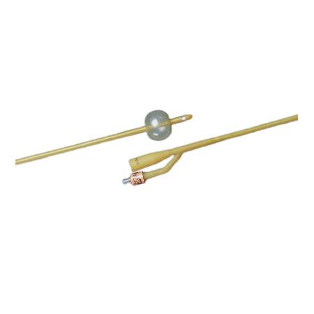 Bardex Lubricath 2-Way Foley Catheter, Hydrogel Coating, 12Fr 30cc Balloon Capacity