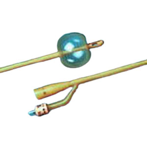 Bardex Silicone-Elastomer Coated 2-Way Foley Catheter, Hydrophobic, 22Fr 30cc Balloon