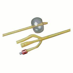 Bardex Lubricath 3-Way Foley Catheter, Hydrogel Coated, 16Fr 30cc Balloon Capacity