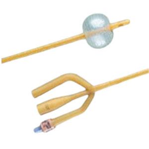 Bardex I.C. 3-Way Foley Catheter, 2 Staggered Eyes, 24Fr, 30cc Balloon Capacity