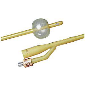 Bardex Lubricath Latex 2-Way Foley Catheter, Female, 24Fr 5cc Balloon Capacity