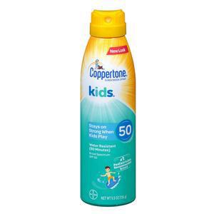 Bayer Coppertone Kids Continuous Sunscreen Spray, SPF 50, 5.5 oz