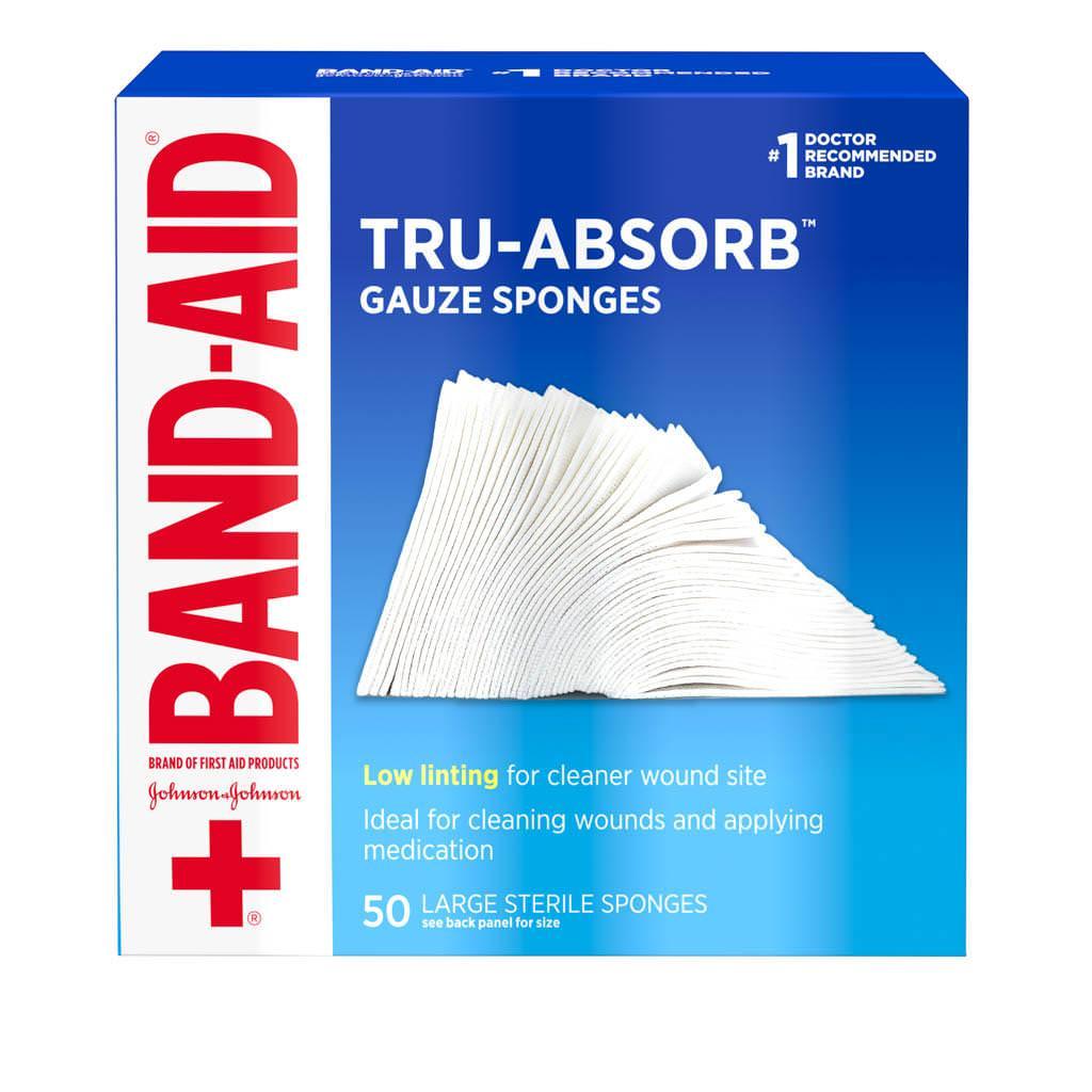 "Band-Aid NoMirasorb First Aid Gauze 4"" x 4"""