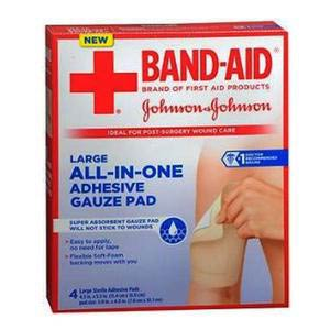 """Band-Aid First Aid Nonstick Gauze Pad Large 4.5"""" × 5.5"""""""
