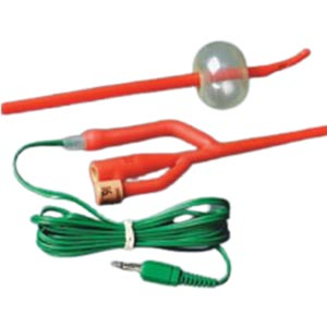 Bardex Lubricath Temp-Sensing Foley Catheter, Coude, 6ft Extension Cable 16Fr 5cc Balloon