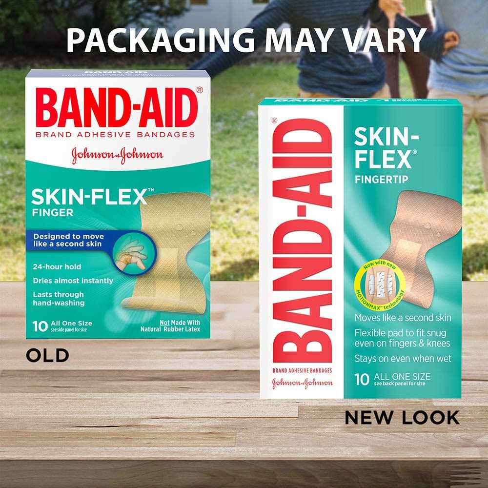 Band-Aid Skin Flex Adhesive Bandage Finger