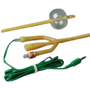 Bardex Lubricath Temp-Sensing 2-Way Foley Catheter with 6ft Extension Cable 16Fr 5cc Balloon