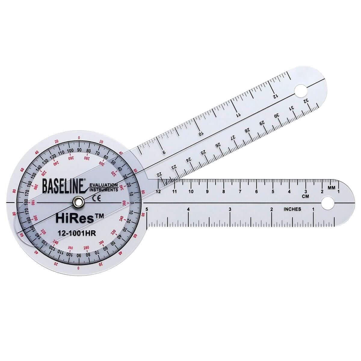 Baseline Hires 360 Degree Transparent Plastic Goniometer