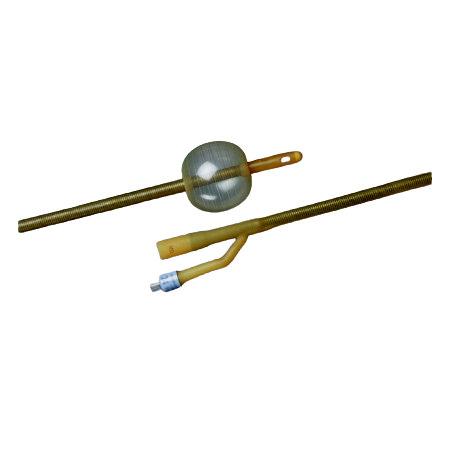 Bardex Lubricath Hematuria Foley Catheter, 2-Way, Latex, 20Fr, 30cc Balloon Capacity