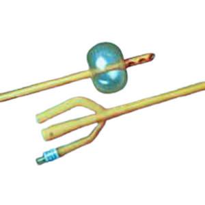 Bardex Lubricath Hematuria 3-Way Foley Catheter, Round, 22Fr, 30cc Balloon Capacity