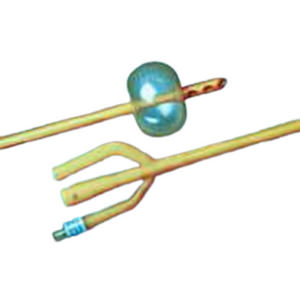 Bardex Lubricath Hematuria 3-Way Foley Catheter, Round, 24Fr, 30cc Balloon Capacity