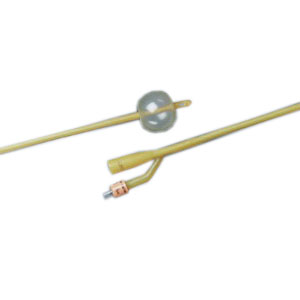Bard 2-Way Foley Catheter, Silicone-Elastomer Coated, 24Fr, 5cc Balloon Capacity