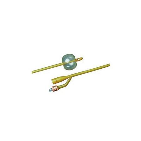 Bard 2-Way Foley Catheter, Silicone-Elastomer Coated, 24Fr, 30cc Balloon Capacity