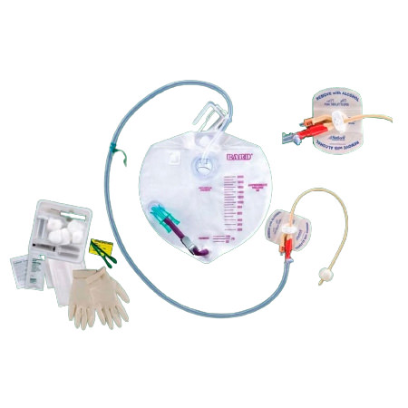 Bard Bardex Infection Control Foley Tray, with Complete Care Drainage Bag, 16Fr