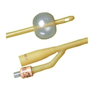 Bardex Economy Lubricath 2-Way Foley Catheter, 18Fr, 5cc Balloon Capacity
