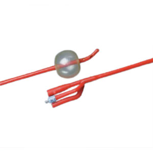 Bard Lubricath Three-Way Foley Urinary Catheter, 22Fr OD, 30cc Balloon