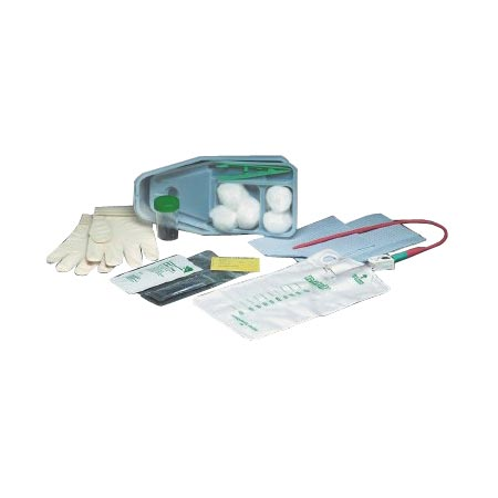 Bard Bi-level Tray with 15Fr Red Rubber Catheter and Pre-Attached 1000mL Collection Bag