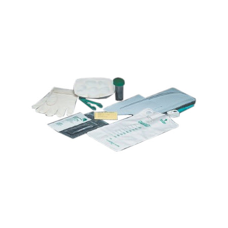 Bard Slim-Line Paperboard Tray,16Fr Clear Straight Catheter,Preattached 1000mL Collection Bag