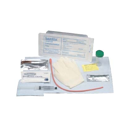 Bardia Urethral Tray with 15Fr Red Rubber Catheter