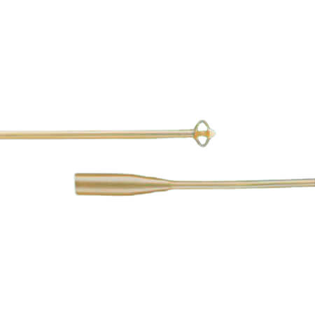 Bardex 4-Wing Malecot Catheter, Reinforced Tip, Sterile, Single Use, Latex, 24Fr
