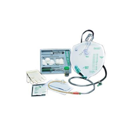 Bardex Lubricath Drainage Bag Foley Tray with 14Fr Bardex 2-Way Foley Catheter
