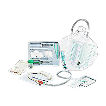 Bardex Urine Meter Foley Tray with 18Fr Silver Hydrogel Coated Catheter, 5cc