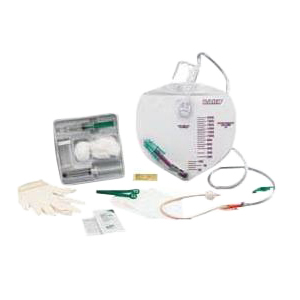 Bardex I.C. Complete Care Foley Catheter Tray with 2000mL Drainage Bag 16Fr