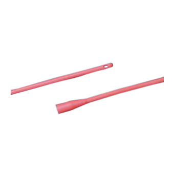 """Bard Red Rubber All-Purpose Latex Urethral Catheter 8Fr 16"""" L, Single-use, Sterile"""