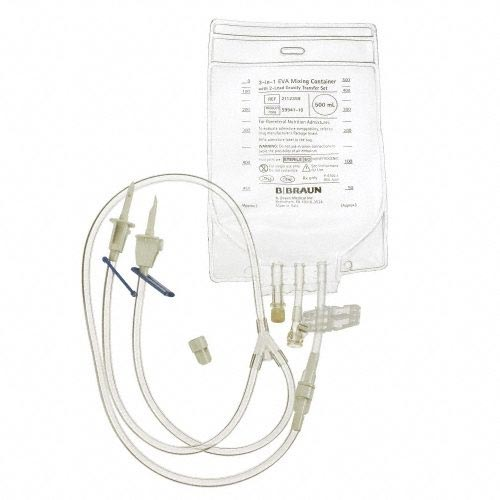 B. Braun EVA Gravity Mixing Container with 2-Lead Vented Transfer Set 500ml