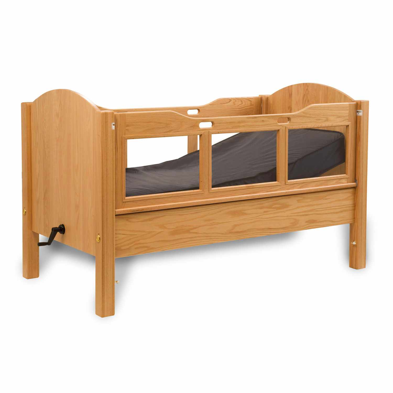 Dream series twin size bed with manual adjustable head and foot